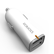Недорогие Автомобильные зарядные устройства-Быстрая зарядка Беспроводная связь Bluetooth 2 USB порта Только зарядное устройство DC 5V/2,4A
