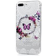 Недорогие Кейсы для iPhone 8-Кейс для Назначение Apple iPhone X iPhone 8 С узором Кейс на заднюю панель Бабочка Кружева Печать Мягкий ТПУ для iPhone X iPhone 8 Pluss