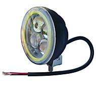 お買い得  -jiawen 3.5インチ5.5wラウンドブラックジープヘッドライト(DC 9-48v)のためのオートバイのヘッドライトを導いた