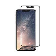 Недорогие Защитные плёнки для экрана iPhone-Защитная плёнка для экрана Apple для iPhone X Закаленное стекло 1 ед. Защитная пленка на всё устройство 3D закругленные углы Уровень