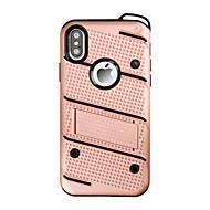 Назначение iPhone X iPhone 8 iPhone 8 Plus Чехлы панели Защита от удара со стендом Задняя крышка Кейс для Сплошной цвет броня Твердый PC