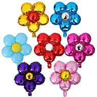 billiga Holiday & Party dekorationer-10st / set fem blommor aluminiumfolie ballonger 58x50cm färg slumpmässig