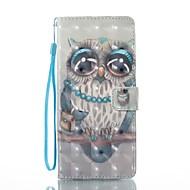 hoesje Voor Samsung Galaxy Note 8 Portemonnee Kaarthouder met standaard Flip Patroon Magnetisch Volledige behuizing Uil Hard PU-leer voor