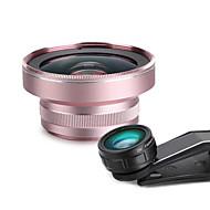 powcho wjb lente do telefone celular 230 lente de olho de pega lente grande angular 0.45x lente macro de 12x vidro de liga de alumínio
