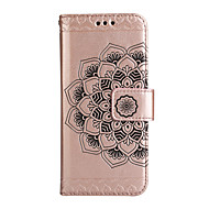 Недорогие Чехлы и кейсы для Galaxy Note 8-Кейс для Назначение SSamsung Galaxy Note 8 Бумажник для карт Кошелек со стендом Флип Магнитный Рельефный Чехол Цветы Твердый Кожа PU для