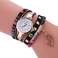Недорогие Женские часы-Жен. Уникальный творческий часы Часы-браслет Модные часы Китайский Кварцевый Горячая распродажа PU Группа Кулоны Винтаж На каждый день