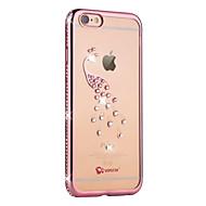 Назначение iPhone 6 iPhone 6 Plus Чехлы панели Стразы Покрытие Задняя крышка Кейс для Животное Мягкий Термопластик для Apple iPhone 6s