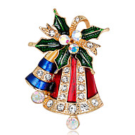 cheap Christmas Jewelry-Women's Others Rhinestone Brooches - Fashion / Christmas Assorted Color Brooch For Christmas / Gift
