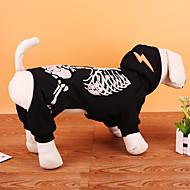 Hund Kostüme Mäntel Pullover Hundekleidung Party Cosplay Halloween Weihnachten Totenkopf Motiv Schwarz Rot