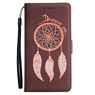Недорогие Чехлы и кейсы для Galaxy Note 8-Кейс для Назначение SSamsung Galaxy Note 8 Note 5 Бумажник для карт Кошелек со стендом Флип Магнитный Чехол Сияние и блеск Ловец снов