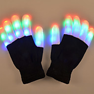 YouOKLight 1W 6 Mode Flashing Finger LED Colorful Gloves gift 1Pair