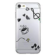 Назначение iPhone 8 iPhone 8 Plus Чехлы панели С узором Задняя крышка Кейс для С сердцем Мягкий Термопластик для Apple iPhone 8 Plus