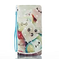 Недорогие Чехлы и кейсы для Galaxy Note 8-Кейс для Назначение SSamsung Galaxy Note 8 Бумажник для карт Кошелек со стендом Флип Магнитный С узором Чехол Мультипликация Твердый Кожа