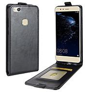 Недорогие Чехлы и кейсы для Huawei Honor-Кейс для Назначение Huawei P10 Lite Бумажник для карт Флип Чехол Сплошной цвет Твердый Кожа PU для P10 Lite P8 Lite (2017) Honor 9 Nova 2