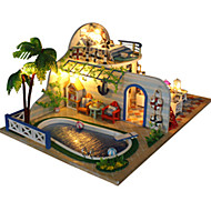 cheap Toys & Hobbies-Music Box Model Building Kits Toys DIY House Architecture Resin Romantic Pieces Unisex Birthday Valentine's Day Gift