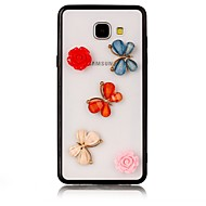 voordelige Galaxy A7(2016) Hoesjes / covers-hoesje Voor Samsung Galaxy A5(2017) A3(2017) Transparant Achterkantje Vlinder 3D Cartoon Bloem Hard Acryl voor A7 (2017) A3 (2017) A5