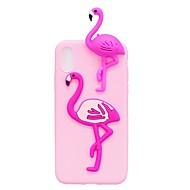 Назначение iPhone X iPhone 8 Чехлы панели Защита от удара Своими руками Задняя крышка Кейс для Фламинго 3D в мультяшном стиле Мягкий
