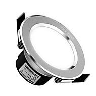 1pc 5w led downlight celing light warm wit / wit ac220v 3000 / 6000k maat gat 90mm straalhoek 120 300lm