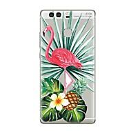 お買い得  携帯電話ケース-ケース 用途 Huawei社P9 Huawei社P9ライト Huawei社P8 Huawei Huawei社P9プラス Huawei社P8ライト Huawei社メイト8 P9 P10 クリア パターン バックカバー クリア フラミンゴ 木 ソフト TPU のために P10