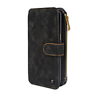 Недорогие Чехлы и кейсы для Galaxy S-Кейс для Назначение SSamsung Galaxy S8 Plus / S8 Кошелек / Бумажник для карт / Флип Чехол Однотонный Твердый Кожа PU для S8 Plus / S8