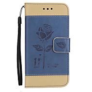 Кейс для Назначение SSamsung Galaxy J7 (2017) J3 (2017) Кошелек Бумажник для карт со стендом Флип Рельефный Чехол Цветы Твердый