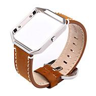 Недорогие Аксессуары для смарт-часов-Ремешок для часов для Fitbit Blaze Fitbit Классическая застежка Современная застежка Металл Кожа Повязка на запястье