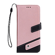 Недорогие Кейсы для iPhone 8 Plus-Кейс для Назначение Apple iPhone X iPhone 8 Бумажник для карт Кошелек со стендом Флип Чехол Сплошной цвет Твердый Кожа PU для iPhone X