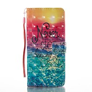 Недорогие Чехлы и кейсы для Galaxy Note 8-Кейс для Назначение SSamsung Galaxy Note 8 Бумажник для карт Кошелек со стендом Флип С узором Чехол Пейзаж Твердый Кожа PU для Note 8