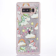 Case For Samsung Galaxy Note 8 Flowing Liquid Pattern Back Cover Unicorn Hard PC for Note 8 Note 5 Note 4 Note 3