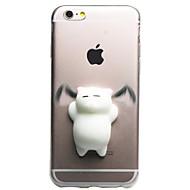 Kompatibilitás iPhone 7 iPhone 7 Plus tokok Átlátszó Minta DIY pépes Hátlap Case Cica 3D figura Puha Hőre lágyuló poliuretán mert Apple
