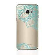 Недорогие Чехлы и кейсы для Galaxy S7 Edge-Кейс для Назначение SSamsung Galaxy S8 Plus S8 Прозрачный С узором Кейс на заднюю панель С сердцем Кружева Печать Мягкий ТПУ для S8 Plus