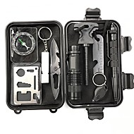 cheap Camping & Hiking Accessories-Survival Kit Casual Camping/Hiking/Caving Outdoor Portable Multi-function Stainless Steel Aluminum Alloy 1 pcs