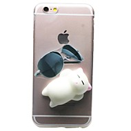 For iPhone 7 iPhone 7 Plus Case Cover Transparent Pattern DIY Squishy Back Cover Case Cat 3D Cartoon Soft TPU for Apple iPhone 7 Plus