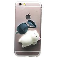 Για iPhone 7 iPhone 7 Plus Θήκες Καλύμματα Διαφανής Με σχέδια Φτιάξτο Μόνος Σου Squishy Πίσω Κάλυμμα tok Γάτα Κινούμενα σχέδια 3D Μαλακή
