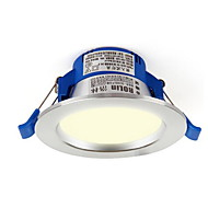 1pc 3w led downlight celing light varm hvid / hvid ac220v størrelse hul 85mm 4000 / 6500k