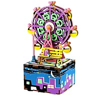 DIY KIT Music Box Toys Famous buildings Wood Pieces Kid Unisex Valentine's Day Birthday Gift