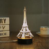 abordables Lámparas LED Novedosas-1 juego Luz nocturna 3D USB Decorativa
