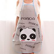 billiga Rengöringsskydd-högkvalitativt panda mönster sött grått kök badrumsvagn förkläde, pvc