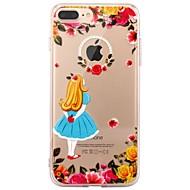 Назначение iPhone X iPhone 8 Чехлы панели Прозрачный С узором Задняя крышка Кейс для Соблазнительная девушка Цветы Мягкий Термопластик для