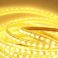 600 만 220V의 higt 밝은 유연한 빛 스트립 유럽 연합 (EU) 전원 플러그와 5050 360smd 세 크리스탈 방수 라이트 바 정원 조명을 주도