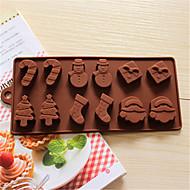 お買い得  キッチン用小物-雪だるまクリスマスツリーチョコレートシリコーンクッキー金型フォンダンケーキ装飾