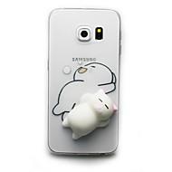 Недорогие Чехлы и кейсы для Galaxy S8-Кейс для Назначение SSamsung Galaxy S8 Plus S8 Прозрачный С узором болотистый Своими руками Кейс на заднюю панель Кот 3D в мультяшном