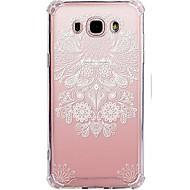 voordelige Galaxy J7 Hoesjes / covers-hoesje Voor Samsung Galaxy J7 (2017) J3 (2017) Transparant Patroon Achterkantje Lace Printing Zacht TPU voor J7 V J7 Perx J7 (2016) J7