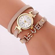 Dames Modieus horloge Armbandhorloge Kwarts PU Band Cool Vrijetijdsschoenen Zwart Wit Bruin Beige