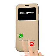 Недорогие Кейсы для iPhone 8 Plus-Кейс для Назначение Apple iPhone X iPhone 8 Plus со стендом с окошком Флип Авто Режим сна / Пробуждение Чехол Сплошной цвет Твердый Кожа