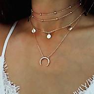 女性用 多層式 レイヤードネックレス - MOON, 三日月 レディース, ファッション, 多層式 ゴールド, シルバー ネックレス ジュエリー 用途 パーティー