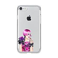 Назначение iPhone X iPhone 8 Чехлы панели Ультратонкий Прозрачный С узором Задняя крышка Кейс для Соблазнительная девушка Мягкий