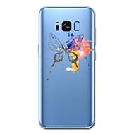 Кейс для Назначение SSamsung Galaxy S8 Plus S8 Прозрачный Задняя крышка Бабочка Мультипликация Мягкий TPU для S8 S8 Plus S7 edge S7 S6