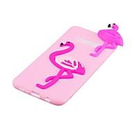 Недорогие Чехлы и кейсы для Galaxy S8-Кейс для Назначение SSamsung Galaxy S8 Plus S8 С узором Своими руками Кейс на заднюю панель Фламинго 3D в мультяшном стиле Мягкий ТПУ для