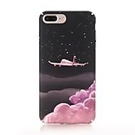 Недорогие Кейсы для iPhone 8 Plus-Кейс для Назначение Apple iPhone X / iPhone 8 Матовое / С узором Кейс на заднюю панель Цвет неба Твердый ПК для iPhone X / iPhone 8 Pluss / iPhone 8